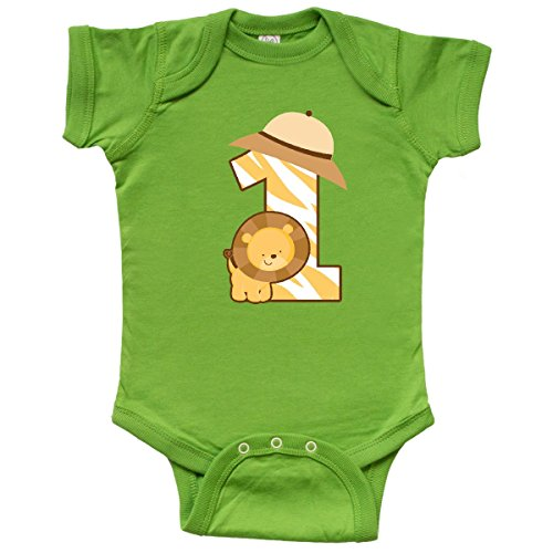 inktastic - Safari 1st Birthday Infant Creeper 12 Months Apple Green 1b52d