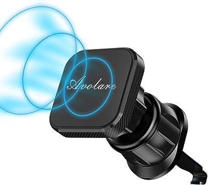 Soporte Movil Coche Magnético Universal,Avolare N52 Iman Soporte Movil para Rejillas del Aire 360°Rotación con 4 Piezas Láminas Metálicas 3M,Clip de Pico de Águila para iPhone 11,HUAWEI,Samsung y etc.: Amazon.es: Coche y