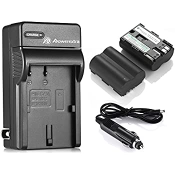 Powerextra 2 Pack Rechargerable Replacement Canon BP-511, BP-511A Battery and Charger For Canon EOS 5D 10D 20D 20Da 30D 40D 50D 300D D30 D60 Rebel PowerShot G1 G2 G3 G5 G6 Pro 1 Pro 90 Pro 90IS