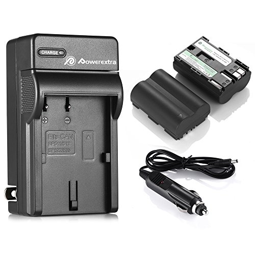 Bp 511a Camera Battery - Powerextra 2 Pack Replacement Canon BP-511, BP-511A Battery and Charger Compatible with Canon EOS 5D 10D 20D 20Da 30D 40D 50D 300D D30 D60 Rebel PowerShot G1 G2 G3 G5 G6 Pro 1 Pro 90 Pro 90IS