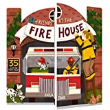 Friends at the Firehouse: Double Booked: 35 lift-the-flaps inside! (Firefighter Board Books; Firetruck Books for Toddlers)