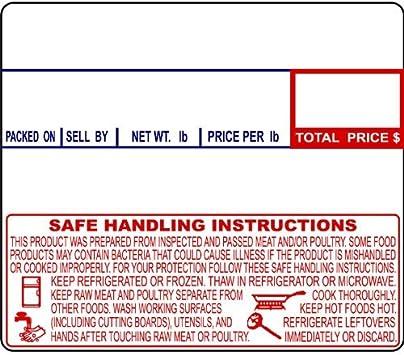 Non-UPC CAS LST-8000 Printing Scale Label 12 Rolls Per Case 58 x 30 mm