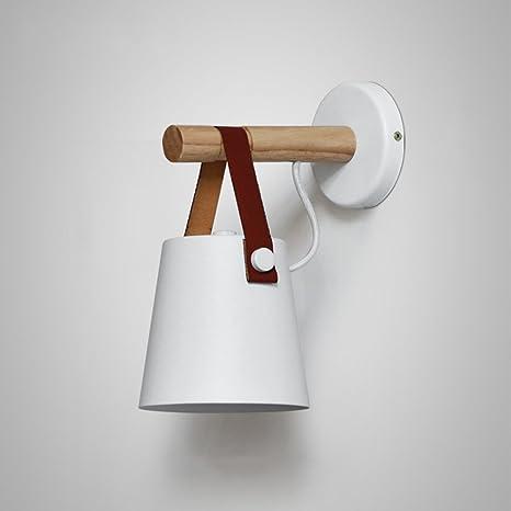 innovative design be5f3 9e813 Nordic Wooden Wall Lamps, Mini Personality LED Black/White ...