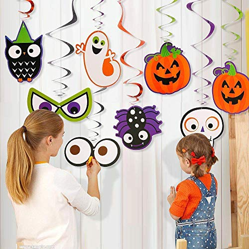 AYUQI Halloween Swirls Hanging Decoration Party Set Supplies with Pumkins Ghost Swirls 30 -
