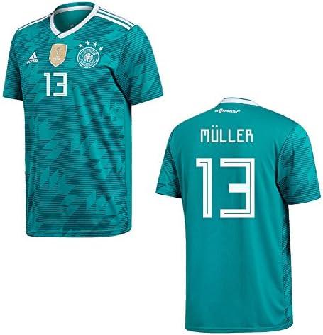 Camiseta de fútbol Adidas Away para hombre, diseño de la selección alemana, del mundial 2018, Müller 13: Amazon.es: Deportes y aire libre