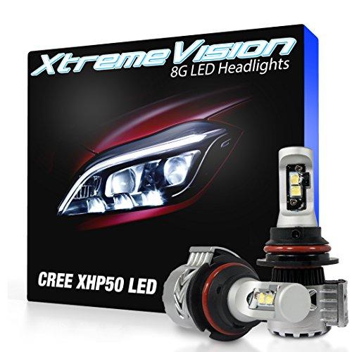 XtremeVision 8G 72W 12,000LM LED Bulb - 9007 Dual Beam LED Headlight Kit - 6500K XHP50 CREE LED