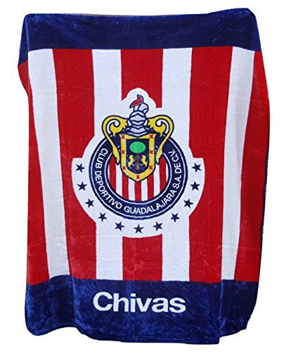 new-licensed-chivas-de-guadalajara-luxury-plush-queen-size-blanket-79x94