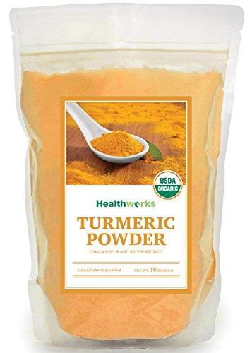 Healthworks Turmeric Root Powder (Curcumin) Raw Organic, 1lb