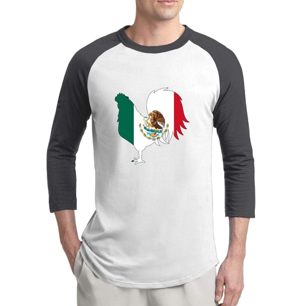 Amazon Mexico Flag Chicken Mens Custom Crewneck 34 Sleeve