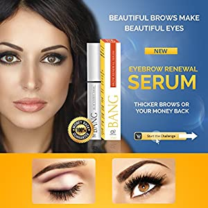 Eyebrow Growth Serum – Get Perfect Bolder Brows w/ Organic Argan Oil, Castor Oil & Peptides – Guaranteed