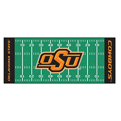 FANMATS NCAA Oklahoma State University Cowboys Nylon Face Football Field Runner (Cowboys Runner Mat)