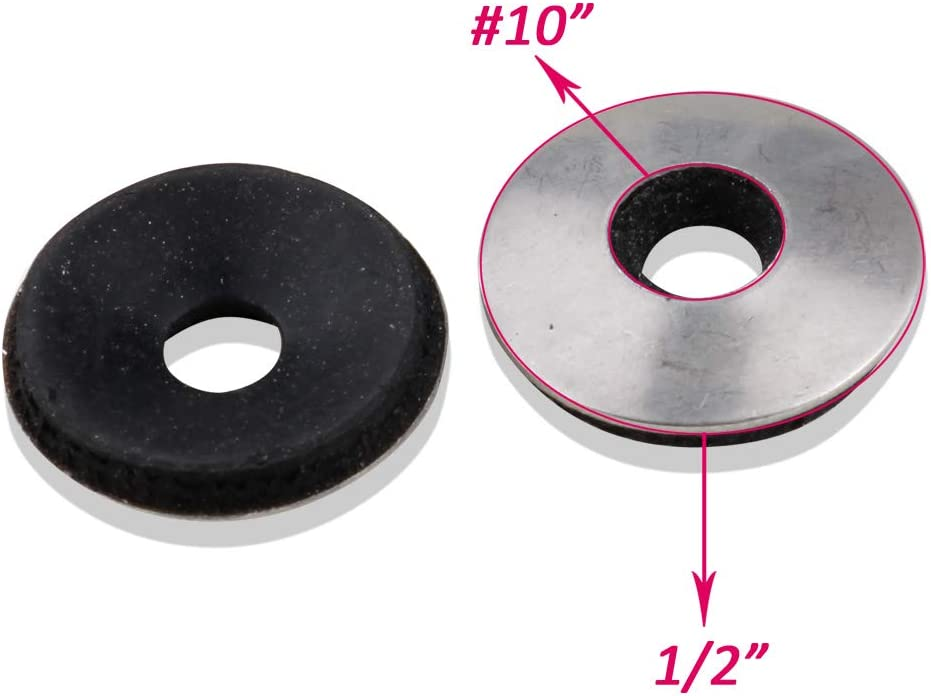 #10 x 1//2 OD Stainless Steel Neoprene EPDM Washers 18-8 304 120 Pieces