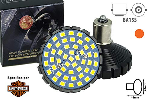 CARALL MA8148 LED-lamp BA15S 1156, compatibel met Harley Davidson motorfietsen, Canbus Error Free, niet-polair, 48 SMD…