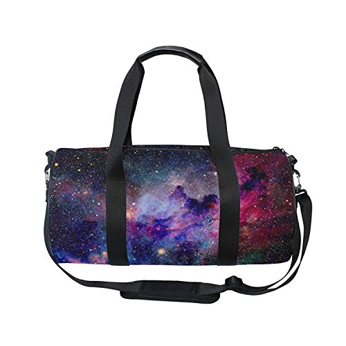 OuLian Duffel Bag Nebula And Galaxy Women Garment Gym Tote Bag Best Sports Bag for (Boyt Garment Bag)