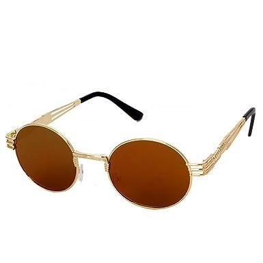 Herren Damn Retro Sonnenbrille Vintage Polarisiert Verspiegelt Steampunk Brillen j4X7roq99U