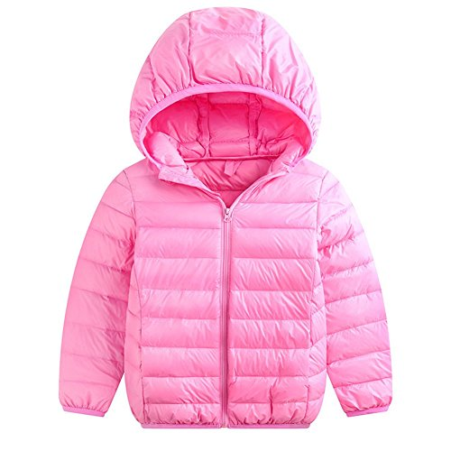 Pink Lightweight Baby Jacket Baby 3T Packable Fairy 2 Hoodie Winter Girls Kids Down Boys Size pink Coats RIZ5A1q