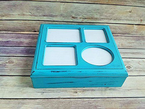 Amazoncom Jewelry Box Wood Picture Frame Lid Up Cycled Eco