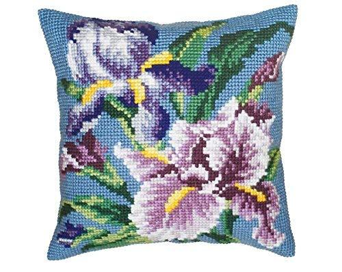 Collezione d'Arte 40 x 40 cm Purple Iris Punto Croce Cuscino Kit