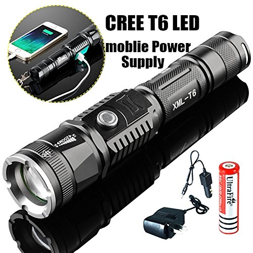 XM-L T6 Led Torch Range Penlight Flashlight Phone USB Charging Flashlight Linternas/Lampe Torche/Power Bank