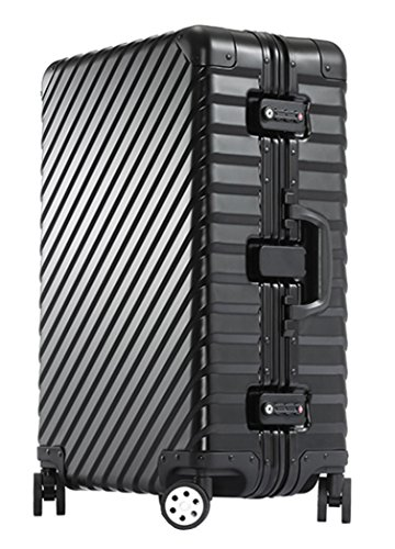 occa-aluminum-magnesium-alloy-metal-suitcase-spinner-luggage-24-inch-black