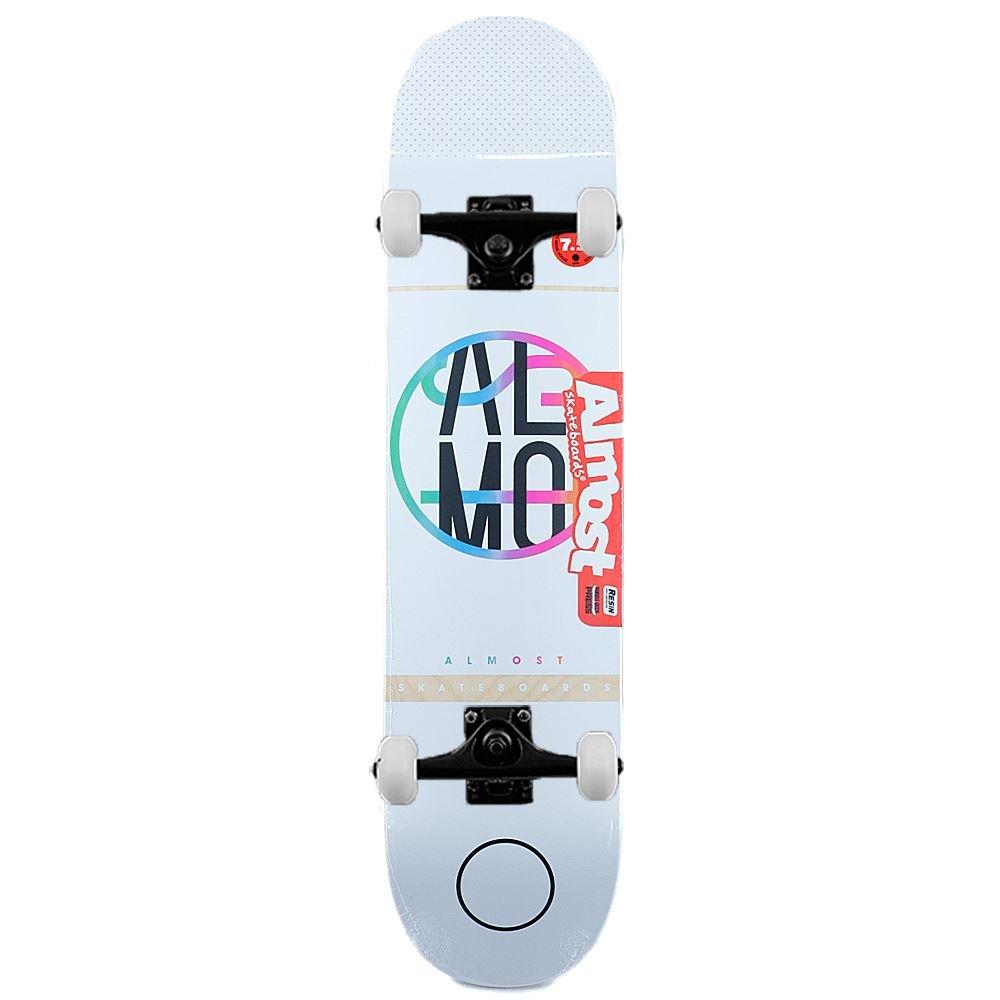 Reducción de precio Almost Skateboards Colour Crash - Monopatín completo, color blanco, 19 cm