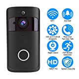 New WiFi Smart Video Doorbell,Acogedor Wireless Home Security Camera with Chime-IR Night Vision,1080P 2-Way Talk, APP Control for iOS and Android (Black)