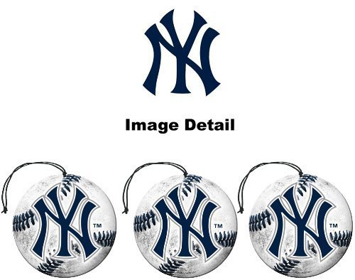 New York Yankees MLB Team Logo Car Truck SUV Home Office Paper Air Freshener - 3 PACK SET by LA Auto Gear