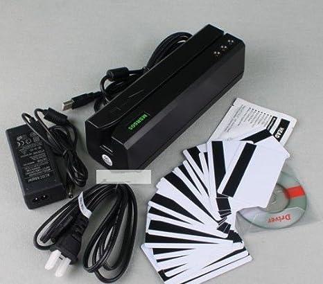 (MSR605 & 206 Magnetic Card Reader & Program Software for Windows  98/Me/XP/Vista/Windows7 & 3-track version can read/write all three tracks  data,
