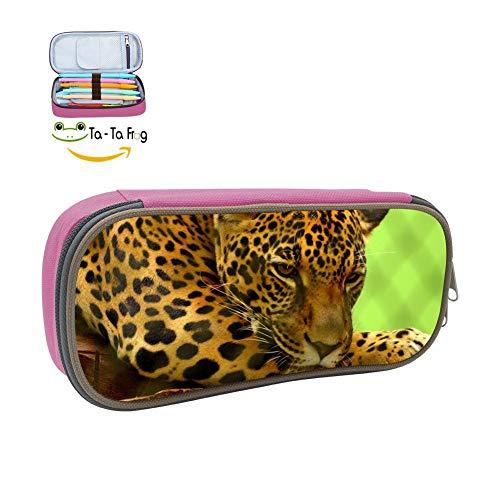 (Jaguar Pencil Case Pen Bag Makeup Pouch Durable Students Cool Boys Stationery with Double)