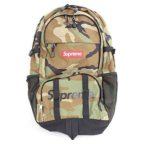 (シュプリーム) SUPREME 【15SS】【Backpack Camo】ボックスロゴ迷彩カモバックパック(カーキ) 中古 B07DQBJLQQ