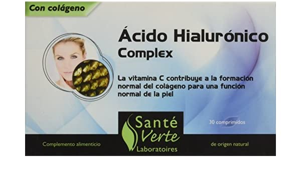 Amazon.com: SANTE VERTE Acide Hyaluronique 130 mg (30 comprimés): Health & Personal Care