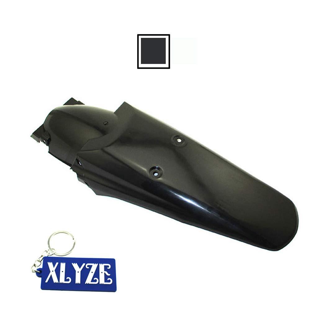 xlyze garde-boue arrière de moto garde-boue pour DR drz RM rmz TTR WR XT YZ XR CR crf kdx klr KLX MX Dirt Bike Off Road Dual Sport Noir