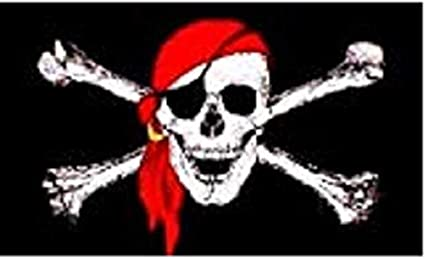 Rouge Pirate Écharpe Tête De Mort Pirate Écharpe Pirates Ceinture piratengurt flibustiers