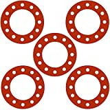 Sterling Seal CFF7237.1000.125.150X5 7237 Red Rubber Full Face Gasket, 10.75'' ID, 10'' Pipe Size, 1/8'' Thick, Pressure Class 150# (Pack of 5)