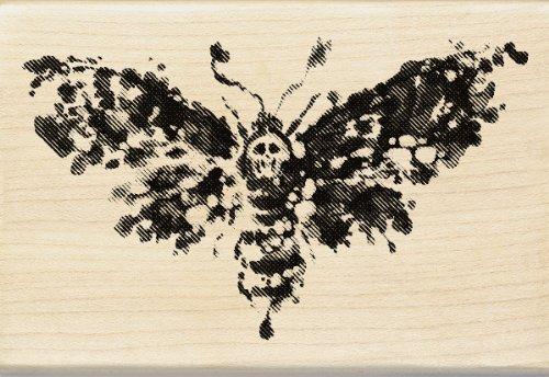Inkadinkado Wood Stamp, Death Head Moth -