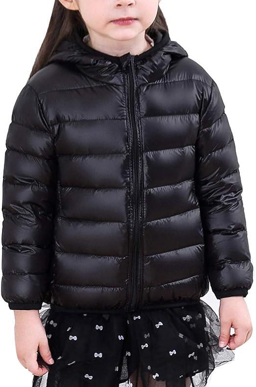 ZhuiKun Kids Boys Girls Lightweight Coat Winter Warm Hooded Down Padded Jacket
