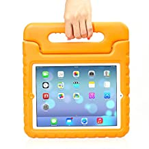 iPad MiNi 4 Case,iPad MiNi 4 Kiddie Case-Grand Sky-Shockproof Case Light Weight Kids Case Super Protection Cover Handle Stand Case for kids Children for Apple iPad mini 4(ipad mini 4, Orange)