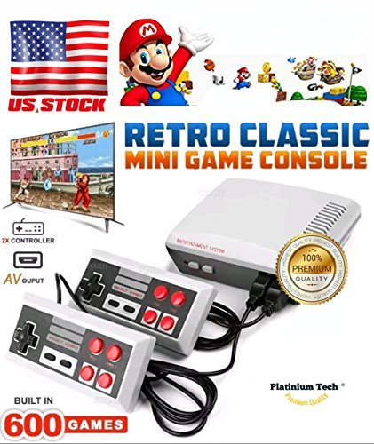 PlatiniumTech CONSOLES VIDEO GAMES, 2018 PLATINIUM TECH BUILT IN 620 VIDEO GAMES CONSOLES, (AV OUT CABLE), CHILDREN GIFT, BIRTHDAY GIFT …