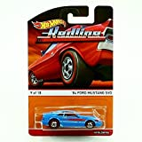 Hot Wheels 2015 Heritage Redline Series 1984 Ford Mustang SVO Fox Body Blue