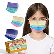 Kids Disposable Face Masks, Tie Dye Pattern Mask 3 ply for Boys Girls, Cute Design Children Size Mask with Var