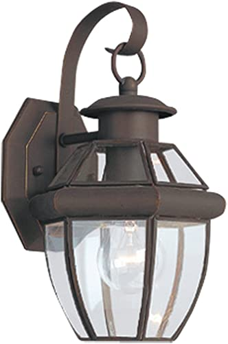 Sea Gull Lighting 8037-71 Lancaster Traditional One Light Outdoor Wall Lantern Oustide Fixture, Antique Bronze