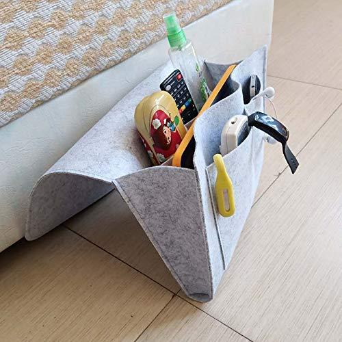 armario de almacenamiento junto a la cama bolsa de almacenamiento colgante caja de almacenamiento multifunci/ón bolsa colgante organizador de almacenamiento junto a la cama bolsillo de fieltro