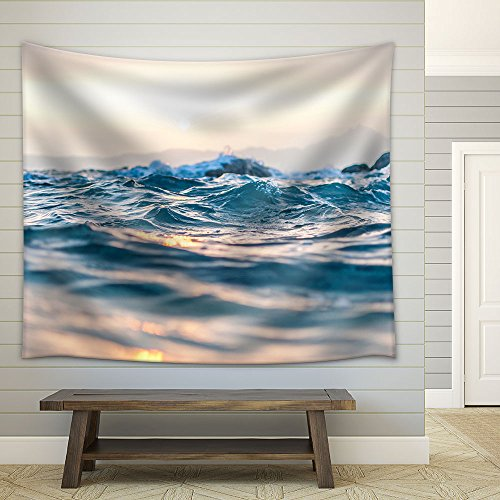 Closeup Water in Sunset Fabric Wall