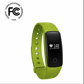 Reloj Inteligente Bluetooth Deportivo de Pulsera,Pulso Cardíaco Fitness Tracker con Contador de Pasos,