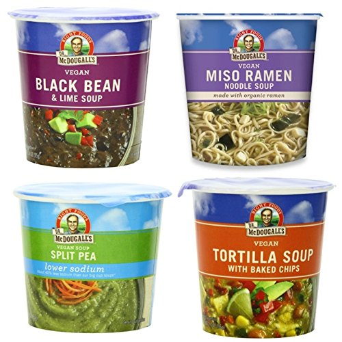 Dr. McDougall's Right Foods Soup Cup Variety Pack, 4 Flavors, 1 of each (Pack of 4)
