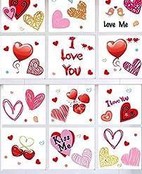 90shine 230PCS Valentine's Day Window Cl...