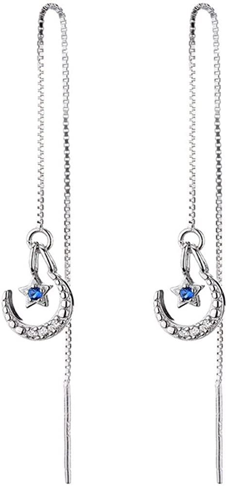 Ling Studs Earrings Hypoallergenic Cartilage Ear Piercing Simple Fashion Earrings Ear Jewelry Sterling Silver Long Earrings 925 Silver Earrings Earrings Simple Hypoallergenic