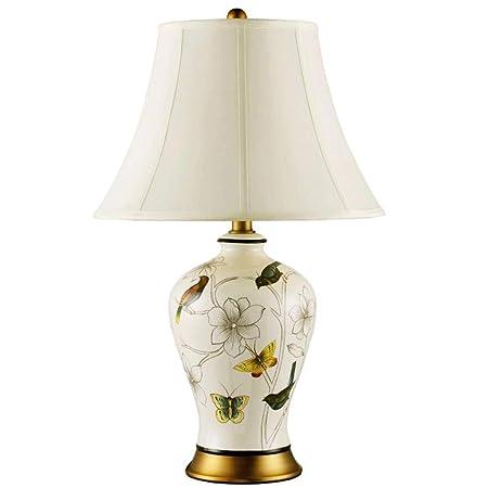 ZKKWLL Lámpara de Mesa Lámpara de Porcelana - Lámpara de Mesa de ...