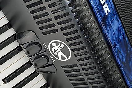 Hohner Bravo III 72 Acordeón Azul (Piano, Acordeón de 72 bajos, de 3