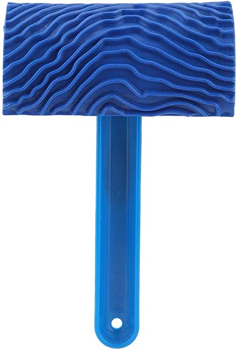 Negro IGRMVIN 2 PCS Rodillo de Pintura de Grano de Madera Grano de Goma Patin Pintura Efectos Rodillo Pintura con Efecto Grano Madera Herramienta de Madera Granulada de Goma 9//13cm